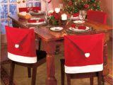 Fundas Para Silla De Fiesta Compre Cubiertas De La Silla De Navidad Papa Noel Red Hat Para La