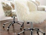 Furry Desk Chair No Wheels Ivory Furlicious Wingback Desk Chair Pbteen