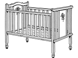 Half Baby Crib attached to Bed Infant Bed Wikipedia