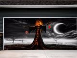 Halloween Garage Door Covers Garage Door Covers Halloween Decor Outdoor House
