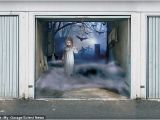 Halloween Garage Door Covers Halloween 2011 Spooky 3 D Garage Door Covers by Thomas