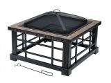 Hampton Bay Simone Fire Pit Replacement Parts Best Hampton Bay Woodspire 30 In Square Slate Steel Fire