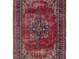 Hand Tufted Vs Hand Knotted Ecarpetgallery Hand Knotted Melis Vintage Red Wool Rug 6 3 X 9 5