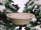Heated Bird Bath Menards Heated Stone Colored Birdbath with Deck and Pole Mount at