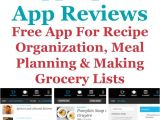 Home Storage solutions 101 Calendar Pepperplate App Review for Recipes Meal Planning Making Grocery