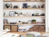 How to Decorate A Half Wall Ledge Built In Shelving Possibly Paint Bottom Half Of Each Shelf White