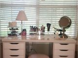 Ikea Alex Drawer Desk Dupe Clear Acrylic Makeup organizer Arranges Makeup Brushes and