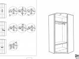 Ikea assembly Instructions for Discontinued Items Manual Ikea Hopen Corner Wardrobe