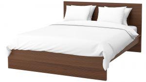Ikea Double Bed Frame Wicker Rattan Effect King Size Beds Ikea