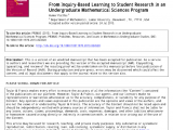 In House Financing Beaumont Texas Pdf From Inquiry Based Learning to Student Research In An