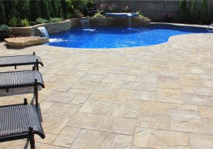 Inground Pools Columbia Sc Cambridge Ledgestone Xl Sahara Chestnut Lite Paver Pool Patio