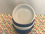 Is Vintage Fiestaware Microwave Safe Fiestaware Small Bowl Fiesta Lapis White 14 Oz Cereal Bowls Lot Of 4
