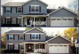 James Hardie Aged Pewter Sherwin Williams before after Blakemore Aged Pewter Lake House Exterior House