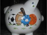 Large Personalized Piggy Banks Personalized Boys Sports Piggy Bank Large by