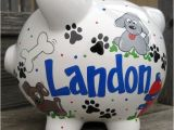 Large Personalized Piggy Banks Puppy Dog Personalized Piggy Bank Large