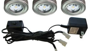 Led Puck Lights Home Depot Enviro Satin Nickel Metal Led Puck Light 3 Pack I