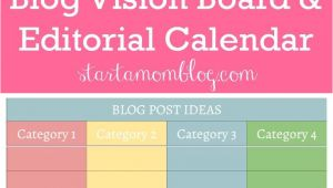 Living Well Spending Less Blog Planner Google Doc Template for A Blog Vision Board and Editorial Calendar