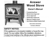 Lopi Answer Wood Stove Lopi Answer Wood Stove User Manual 48 Pages