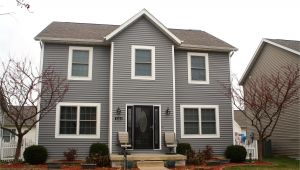Mastic Deep Granite Siding Mastic Deep Granite Grey Siding and White Trim Re Side and