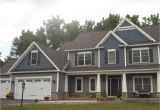 Mastic Deep Granite Vinyl Siding Home Exterior Grey Siding with Blue Shake Siding Home