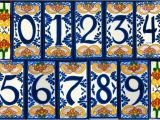 Mexican Tile House Numbers with Frame House Number Tile and Frames Latin Accents