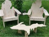Michigan Shaped Adirondack Chairs Michigan Adirondack Chair by Picwoodusa On Etsy