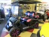 Mining Cart for Sale Custom Pink Black Golf Cart Upholstery Custom Golf Cart