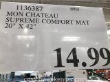Mon Chateau Anti Fatigue Mat 20×42 Mon Chateau Anti Fatigue Supreme Comfort Mat Costco