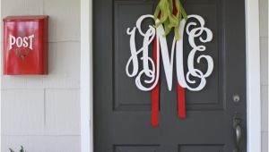 Monogram Front Door Decoration A Proper Monogram Christmas Chatter Holly Mathis Interiors