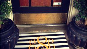 Monogram Front Door Mat Miss Em Prints