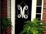 Monogram Initials for Front Door Initial Monogram Front Door Wreath From Housesensations
