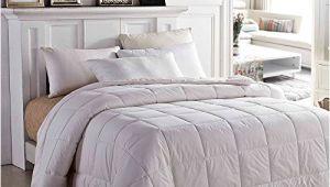 Most Fluffy Down Alternative Comforter Amor Amore White soft Fluffy Reversible solid Beding