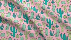 Mudcloth Cotton Fabric by the Yard Amazon Com Spoonflower Cactus Fabric Cactus Botanical Cacti