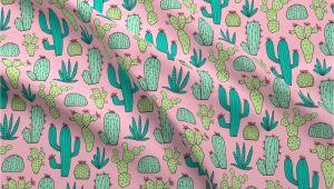 Mudcloth Cotton Fabric by the Yard Amazon Com Spoonflower Cactus Fabric Cactus Botanical Cacti