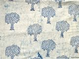 Mudcloth Print Fabric by the Yard Tree Design White Indigo Fabric Mudcloth Block Print Fabric by Etsy