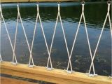 Nautical Rope Deck Railing Close Up Of Deck Railing with Cleats and Rope Dock