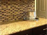 New Venetian Gold Granite with Glass Tile Backsplash Glass Tile Backsplash Venetian Gold Granite Countertop