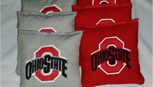 Ohio State Cornhole Bags Ohio State Embroidered Cornhole Bagg toss Bags Set Osu