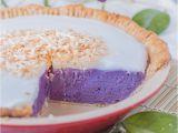 Okinawan Sweet Potato Pie Honolulu Purple Sweet Potato Pie with Coconut topping Haupia A