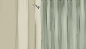Outdoor Curtain Rod with Post Set How to Install A Shower Curtain 15 Steps with Pictures
