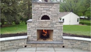 Outdoor Fireplace and Pizza Oven Combination Plans Outdoor Fondulac Stone Fireplace and Pizza Oven In St