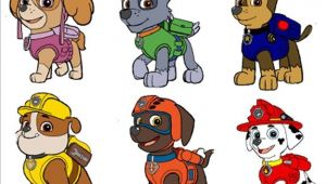 Paw Patrol Iron On Transfers 6 Paw Patrol Characters Fabric T Shirt Iron On