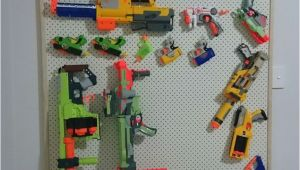 Pegboard for Nerf Guns Nerf Gun Storage Rack Pegboard with Pine Frame Nerf
