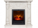 Polyfiber Electric Fireplace with 41 Mantel Dimensions Wildon Home Rupert Faux Stone Corner Convertible