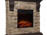Polyfiber Electric Fireplace with 41 Mantle Product Features