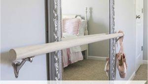 Portable Ballet Barre Wood Diy Diy Ballet Barre and How to Hang A Heavy Mirror Inspiring Diy