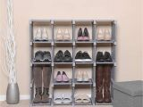 Portable Display Shelves for Craft Shows Uk songmics 16 Cube Shoe Rack Diy Modular Storage Shelves and Bookshelf
