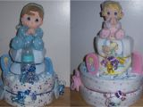 Precious Moments Baby Shower Decorations Baby Shower 2 Tier Precious Moments Diaper Cake Ebay