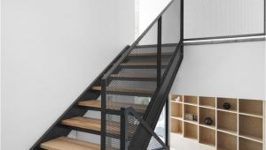 Prefab Metal Stairs Residential these Stairs Combine Wood Black Metal and Mesh to Create A