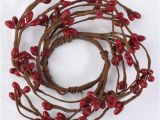 Primitive Pip Berry Candle Rings Red Pip Berry Candle Ring Candles and Accessories
